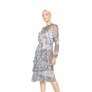 witch-witch - Printed Animal Flounce Dress - Giulia & Grace - Woman Dress