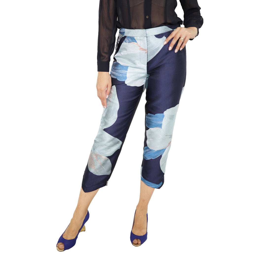 witch-witch - Flower Lurex Jacquard Pants - Giulia & Grace - Woman Pants