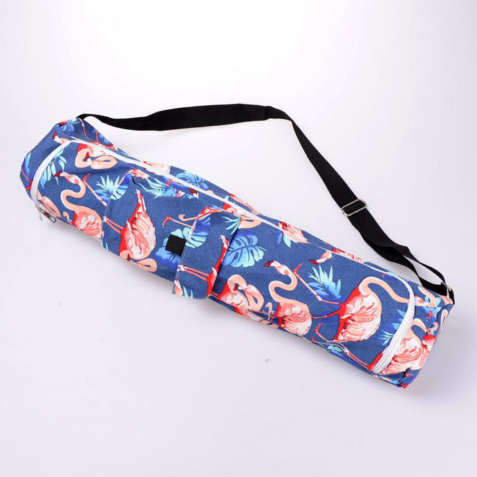 Blue Flamingo Printed Mat Yoga bag
