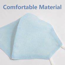 Breathable Cotton Linen Plain Color Mask Sugar Blue