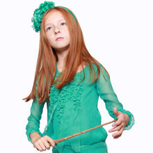 witch-witch - DS01 - Silk Emerald Shirt with fringe - Witch & Witch - Shirt