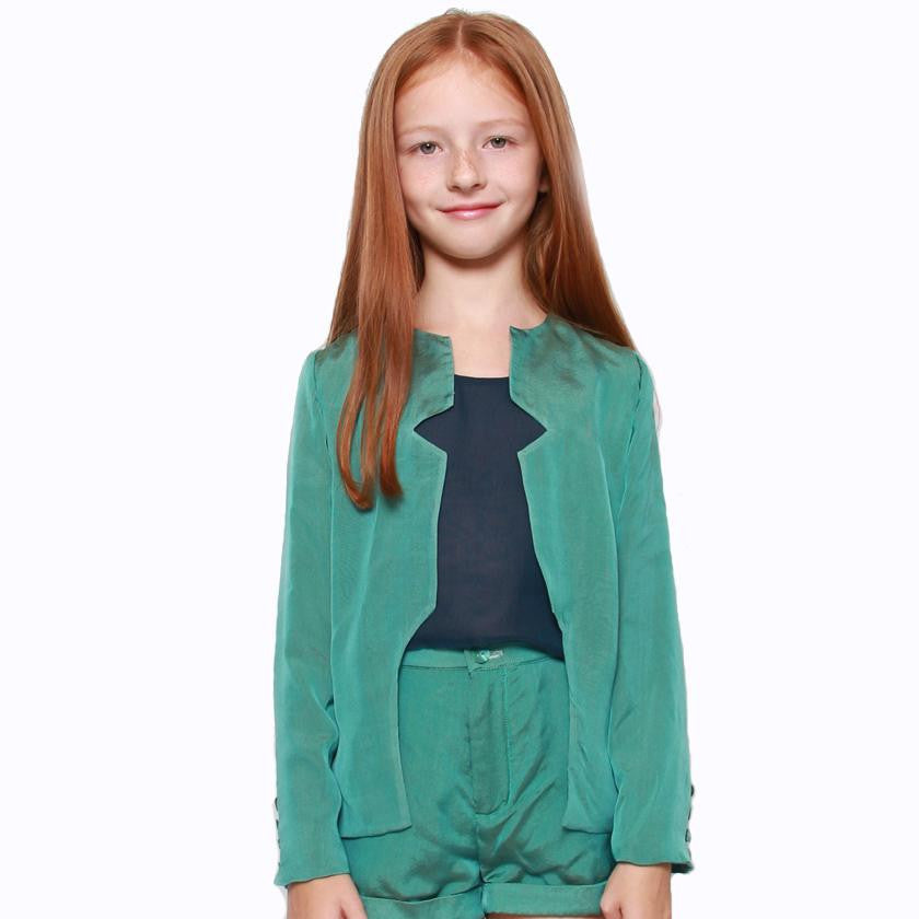 witch-witch - DS04 - Emerald Silk Jacket - Witch & Witch - Jacket