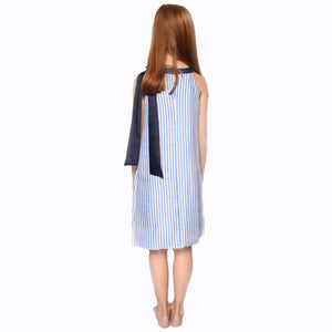 witch-witch - DS10 - Stripe and Contrast Silk Dress - Witch & Witch - Dress