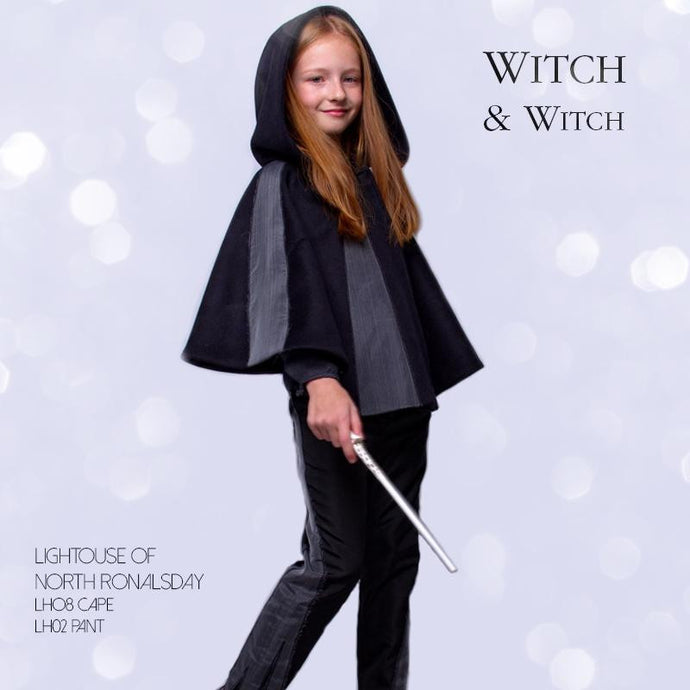 witch-witch - LH08 -  Wool Polyester Cape with Hood ... real Witch - Witch & Witch - Cape