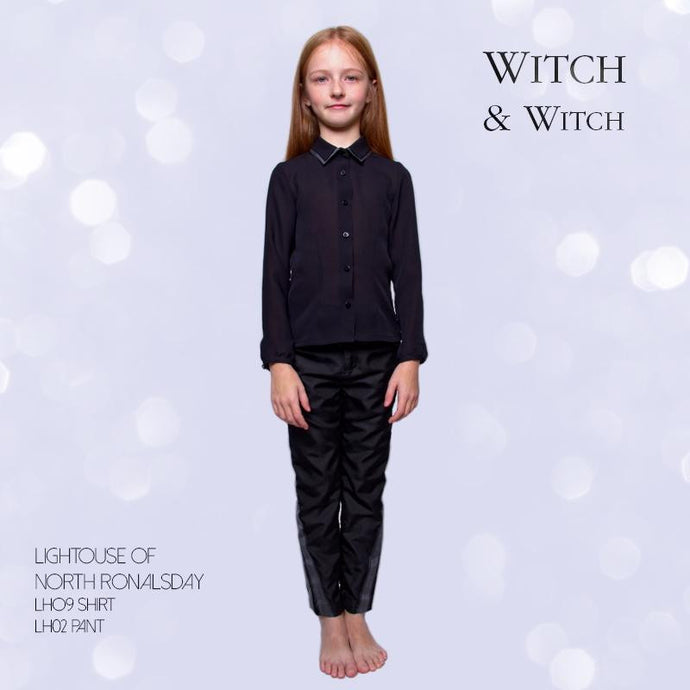 witch-witch - LH09 -  Black elegant Silk Shirt - Witch & Witch - Shirt