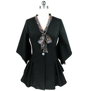 witch-witch - Black Jacket Open Sleeve - Giulia & Grace - Woman Jacket