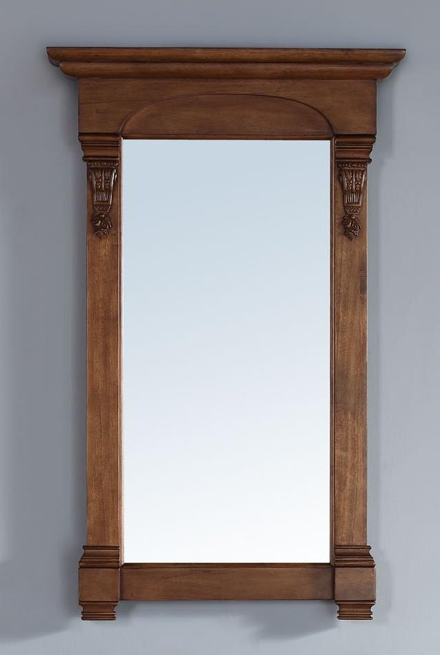 "Brookfield 26"" Mirror, Country Oak, James Martin Vanities - vanitiesdepot.com"