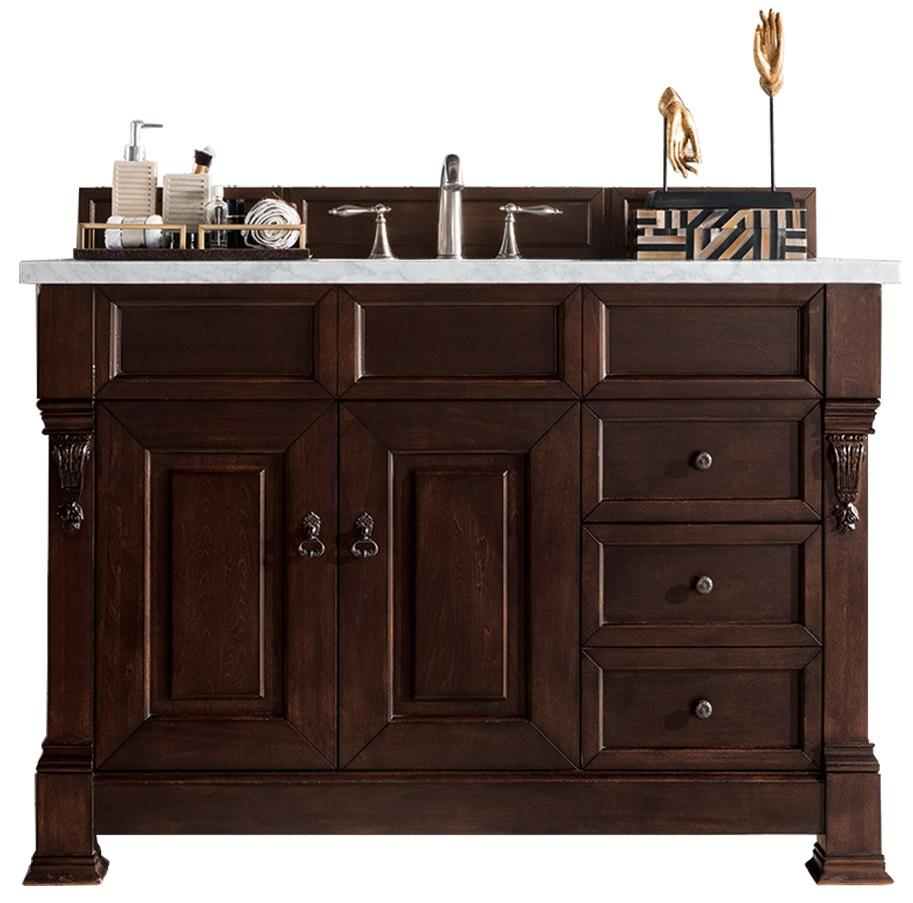 "48"" Brookfield Burnished Mahogany w/ Drawers Single Bathroom Vanity - vanitiesdepot.com"