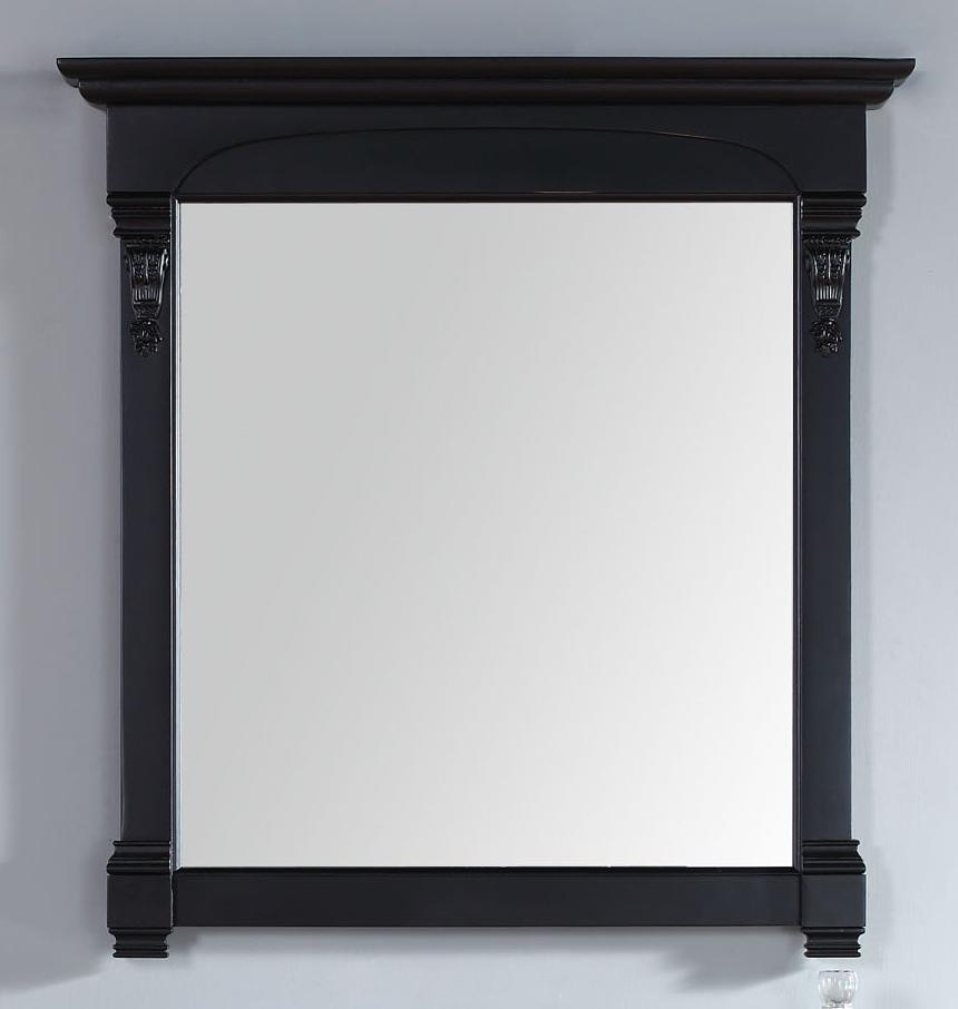 "Brookfield 39.5"" Mirror, Antique Black - vanitiesdepot.com"