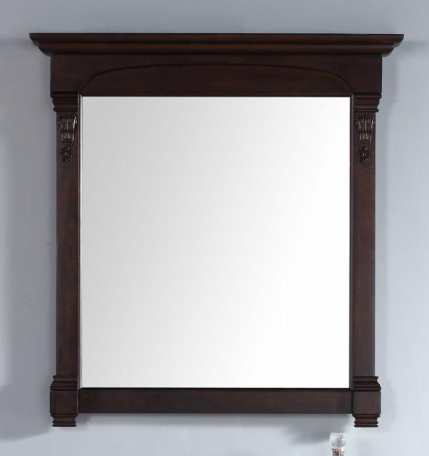 "Brookfield 39.5"" Mirror, Burnished Mahogany, James Martin Vanities - vanitiesdepot.com"