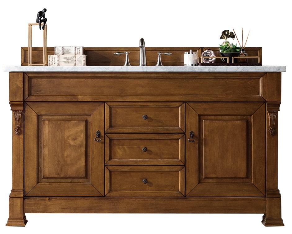 "60"" brookfield country oak single bathroom vanity"