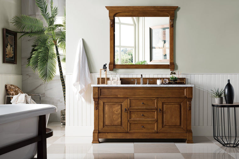 "60"" Brookfield Country Oak Single Bathroom Vanity, James Martin Vanities - vanitiesdepot.com"