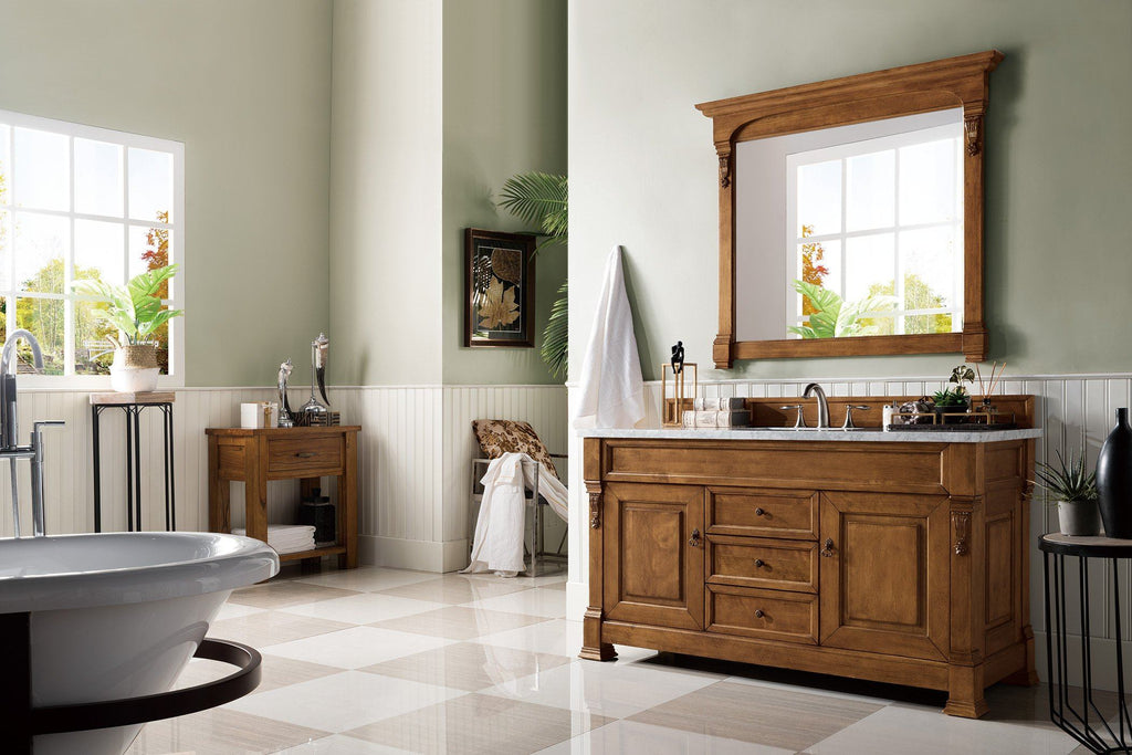 "60"" Brookfield Country Oak Single Bathroom Vanity - vanitiesdepot.com"