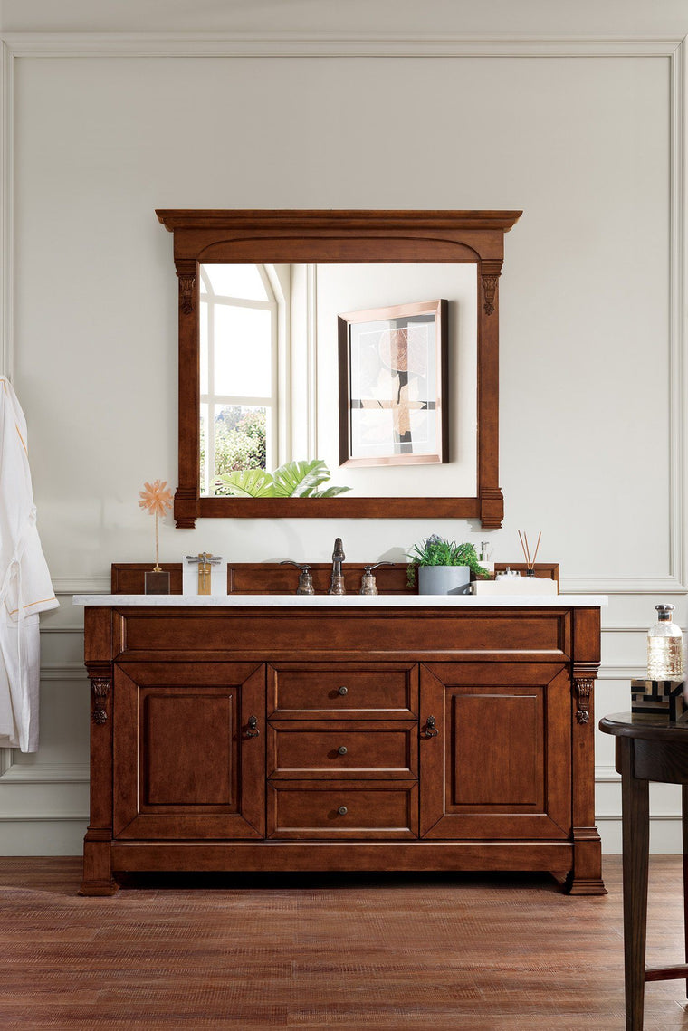 "60"" Brookfield Warm Cherry Single Bathroom Vanity, James Martin Vanities - vanitiesdepot.com"