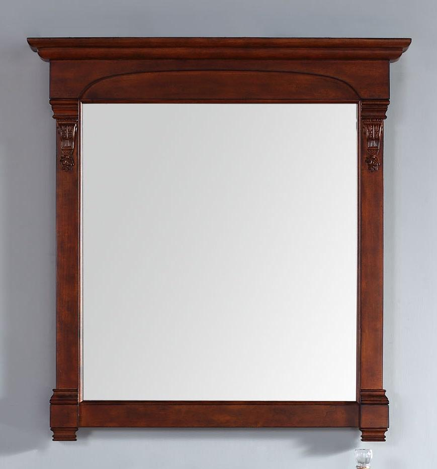 "Brookfield 39.5"" Mirror, Warm Cherry, James Martin Vanities - vanitiesdepot.com"