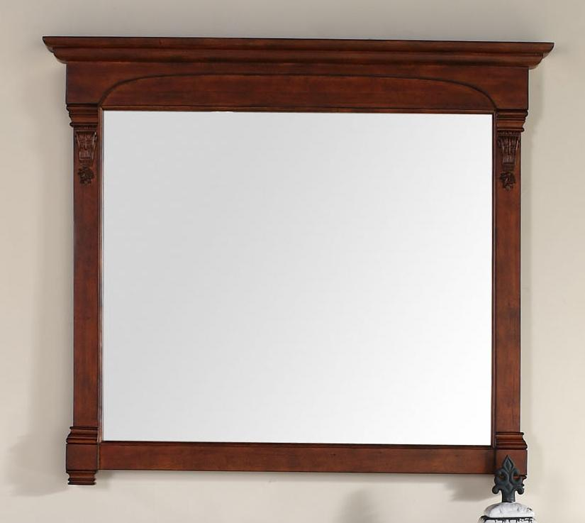 "Brookfield 47.25"" Mirror, Warm Cherry, James Martin Vanities - vanitiesdepot.com"