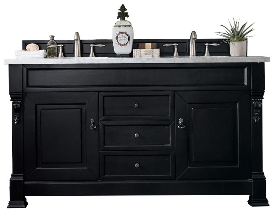60 Brookfield Antique Black Double Vanity Bathroom Vanity