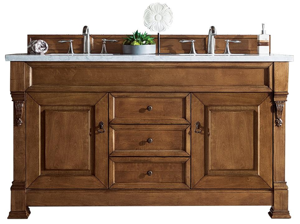 "60"" Brookfield Country Oak Double Bathroom Vanity, James Martin Vanities - vanitiesdepot.com"