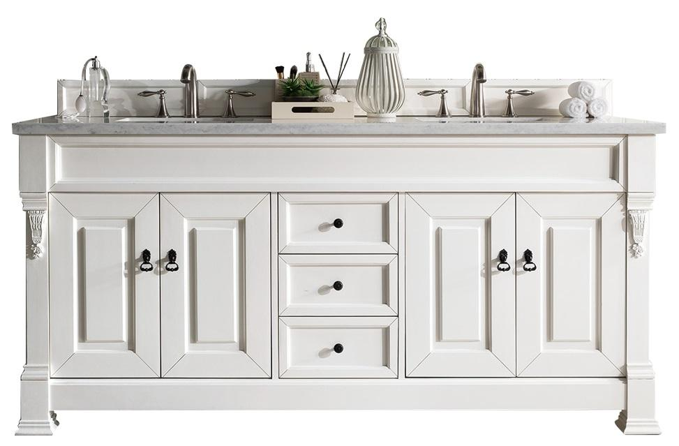 Peachy 72 Brookfield Cottage White Double Bathroom Vanity Home Interior And Landscaping Synyenasavecom