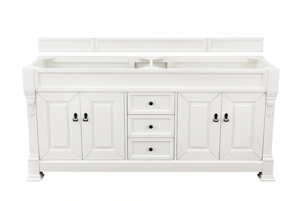 "72"" Brookfield Cottage White Double Bathroom Vanity"