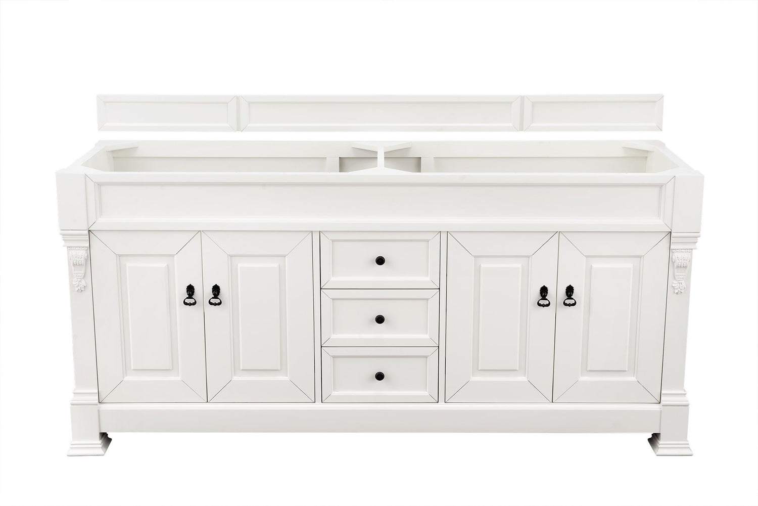 "72"" Brookfield Cottage White Double Bathroom Vanity, James Martin Vanities - vanitiesdepot.com"