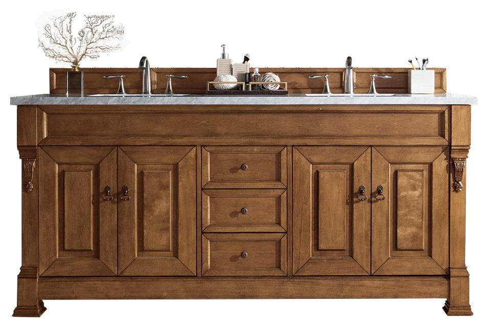 "72"" Brookfield Country Oak Double Bathroom Vanity - vanitiesdepot.com"