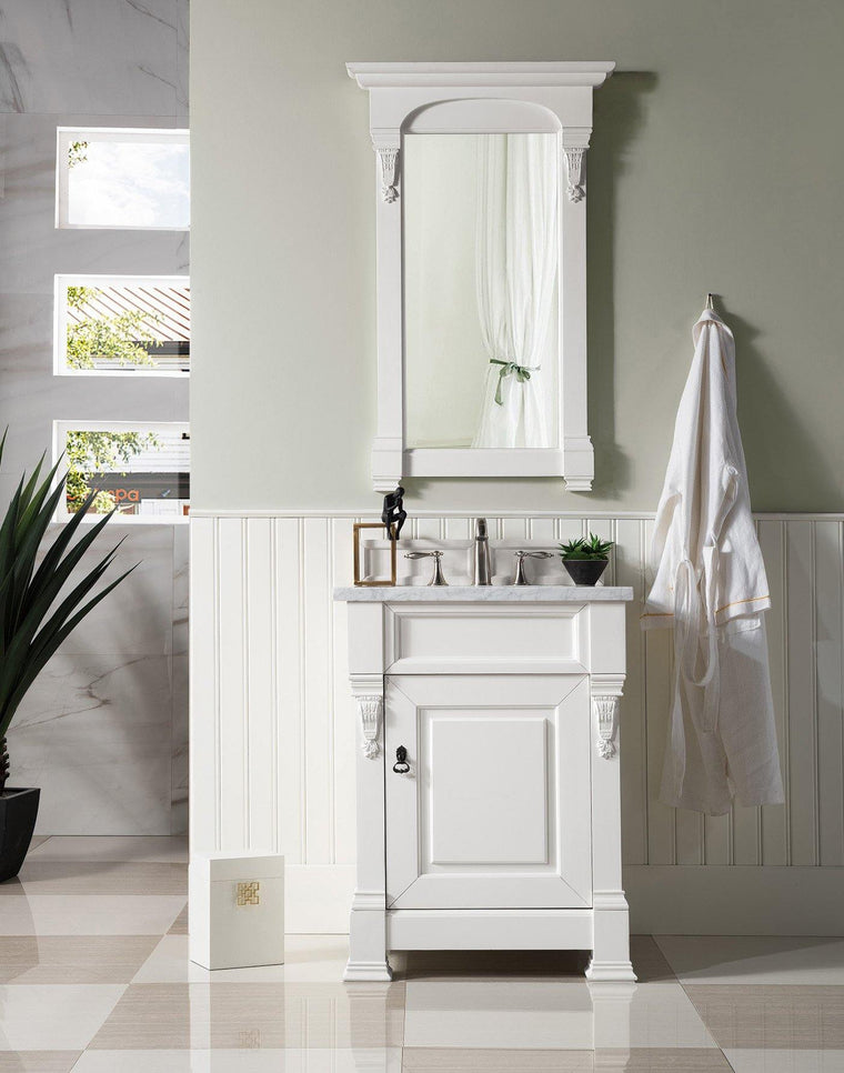 "26"" Brookfield Bright White Single Bathroom Vanity"