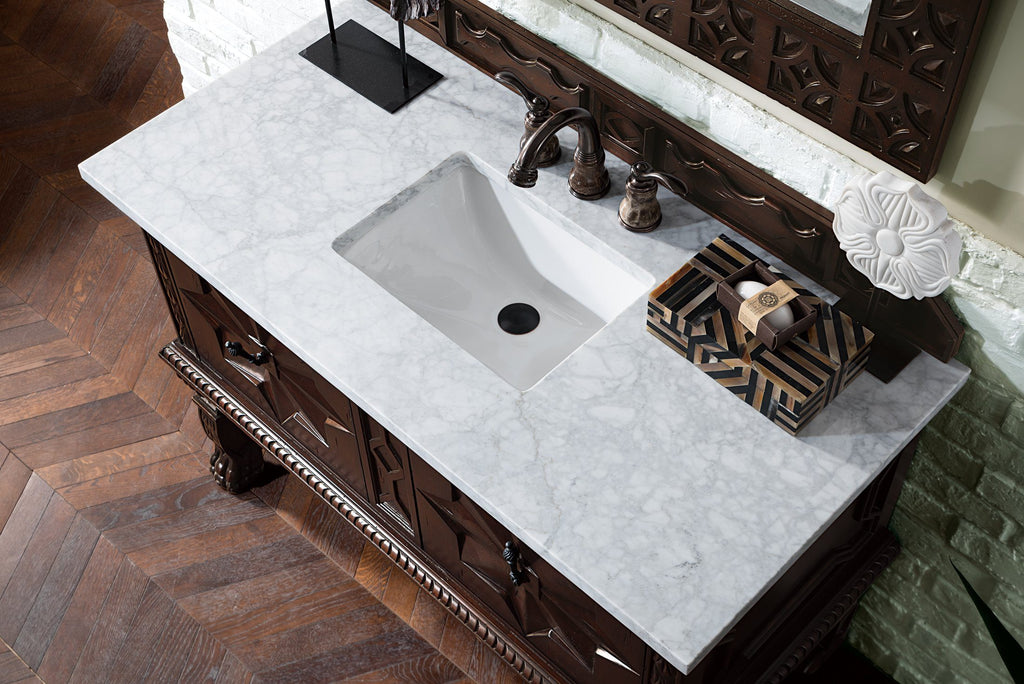 "48"" Balmoral Single Sink Bathroom Vanity, James Martin Vanities - vanitiesdepot.com"