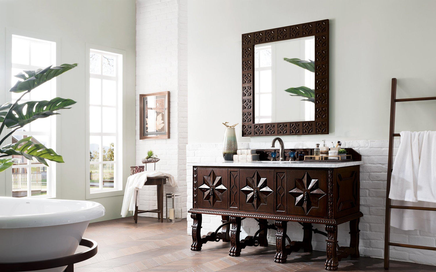 "60"" Balmoral Single Sink Bathroom Vanity - vanitiesdepot.com"