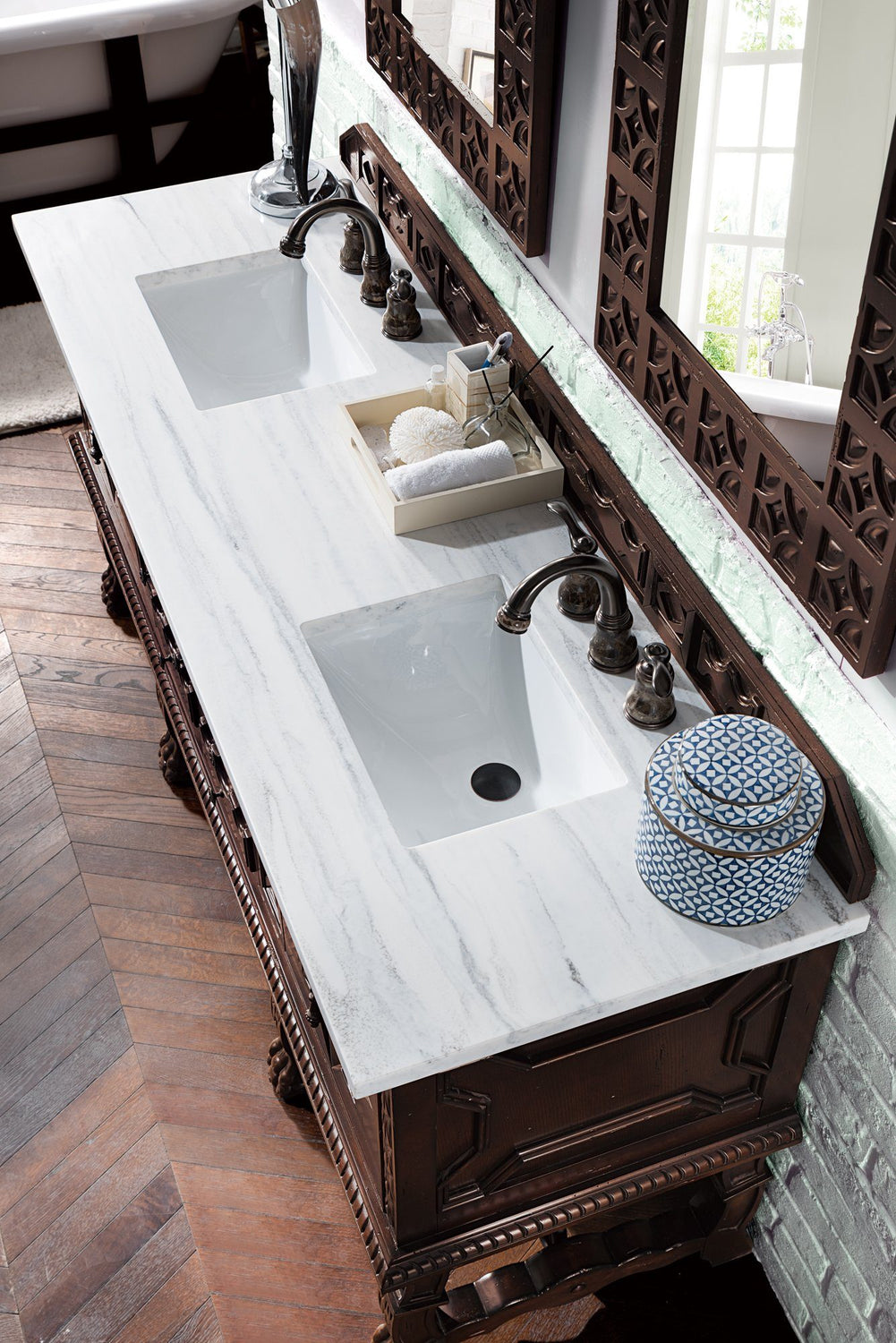 "72"" Balmoral Double Sink Bathroom Vanity"