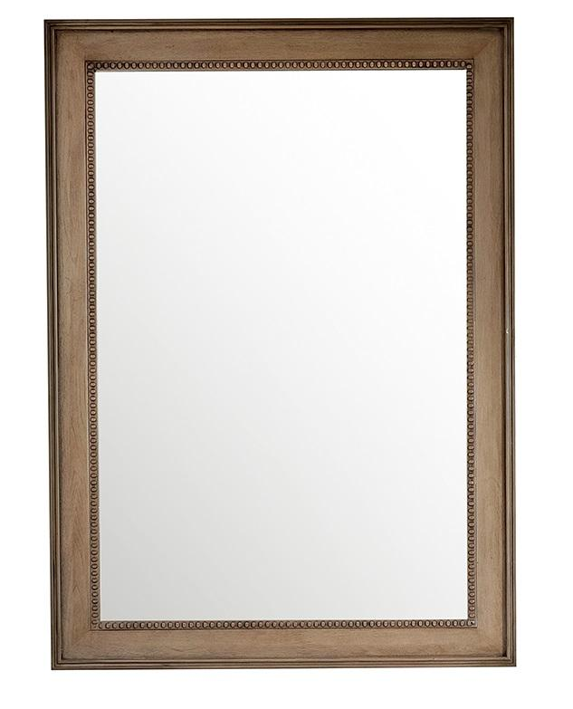 "Bristol 29"" Rectangular Mirror, White Washed Walnut - vanitiesdepot.com"