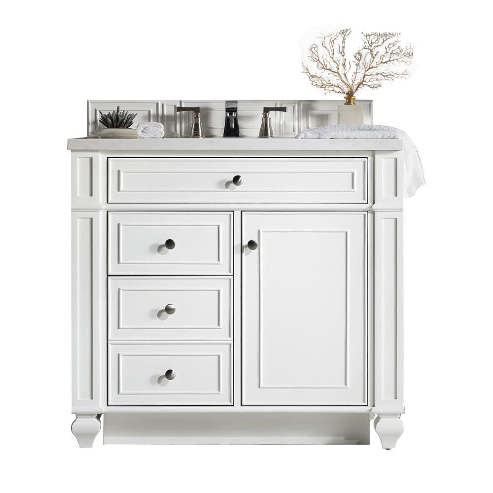 "36"" Bristol Cottage White Single Bathroom Vanity, James Martin Vanities - vanitiesdepot.com"