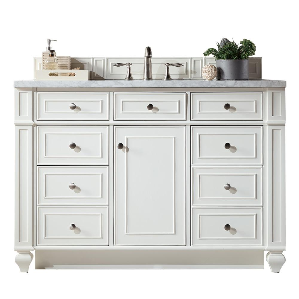 "48"" Bristol Bright White Single Bathroom Vanity"