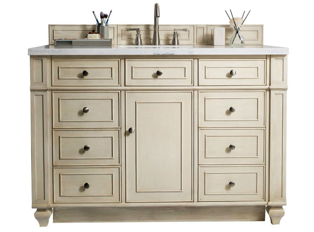 "48"" Bristol Vintage Vanilla Single Bathroom Vanity, James Martin Vanities - vanitiesdepot.com"