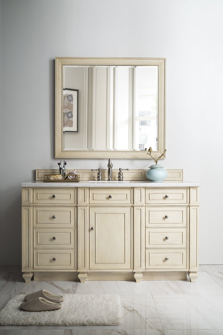 "60"" Bristol Vintage Vanilla Single Bathroom Vanity, James Martin Vanities - vanitiesdepot.com"