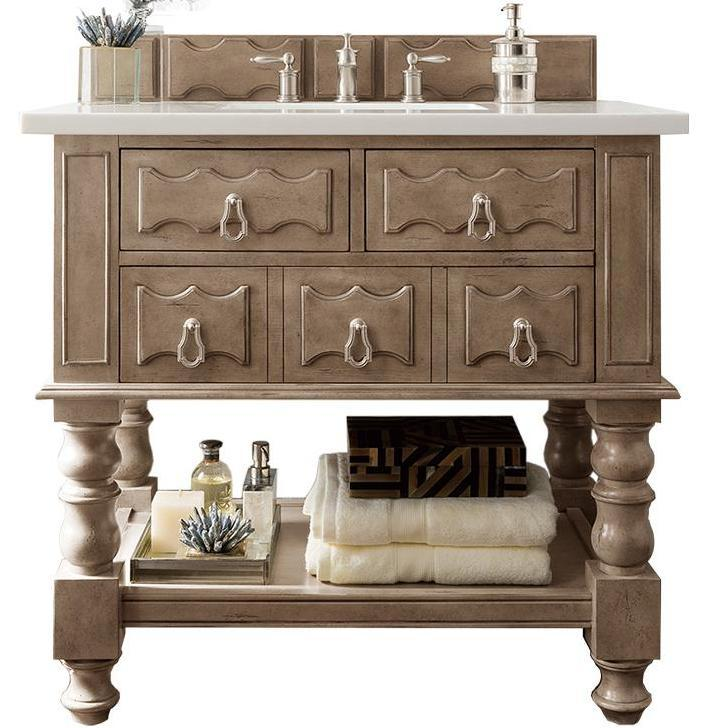 "36"" Castilian Empire Gray Single Sink Bathroom Vanity, James Martin Vanities - vanitiesdepot.com"