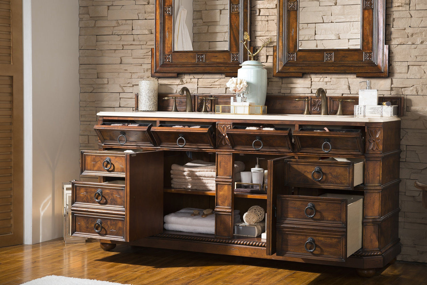 "71"" Regent Double Sink Bathroom Vanity - vanitiesdepot.com"