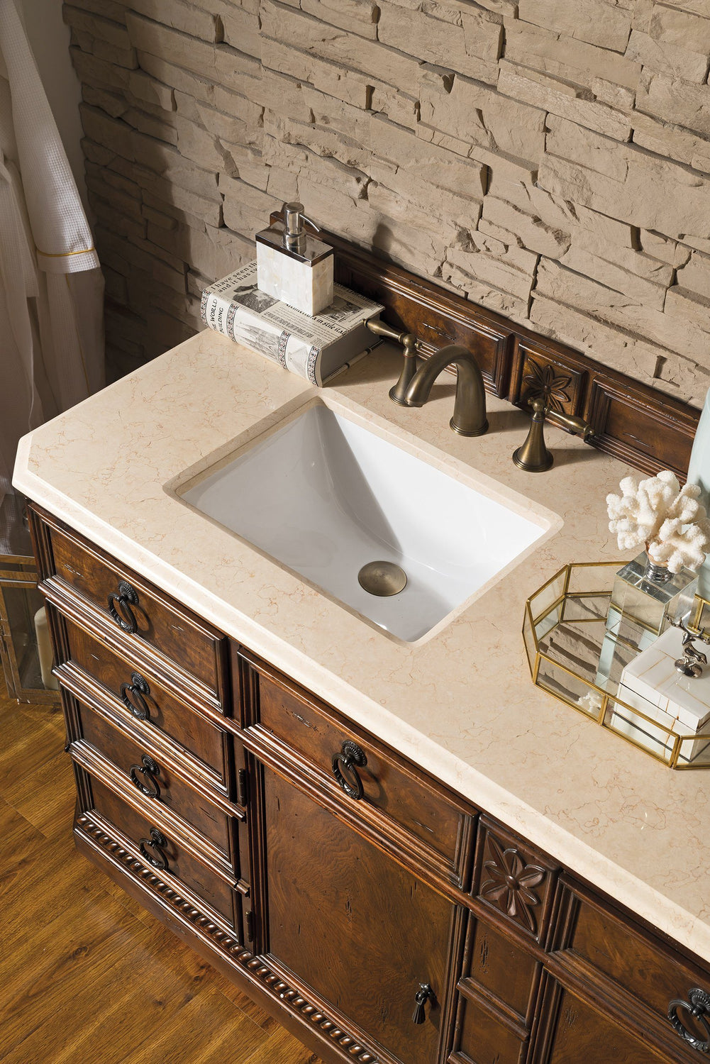 "71"" Regent Double Sink Bathroom Vanity, James Martin Vanities - vanitiesdepot.com"