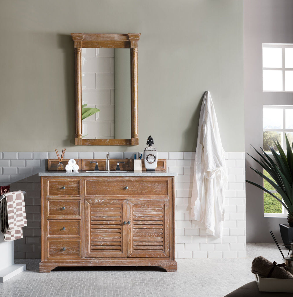 "48"" Savannah Driftwood Single Bathroom Vanity, James Martin Vanities - vanitiesdepot.com"