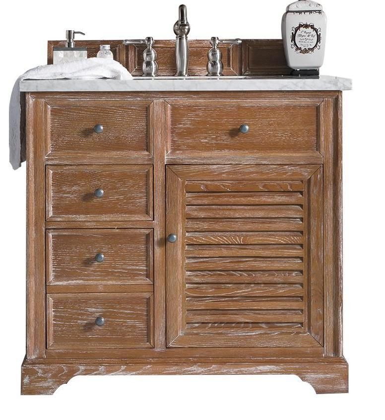"36"" Savannah Driftwood Single Bathroom Vanity, James Martin Vanities - vanitiesdepot.com"
