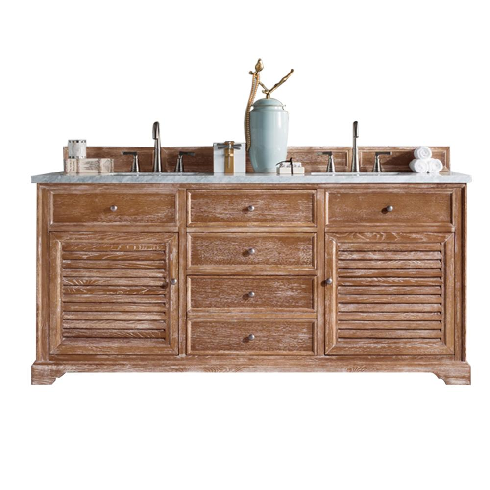 "72"" Savannah Driftwood Double Sink Bathroom Vanity, James Martin Vanities - vanitiesdepot.com"