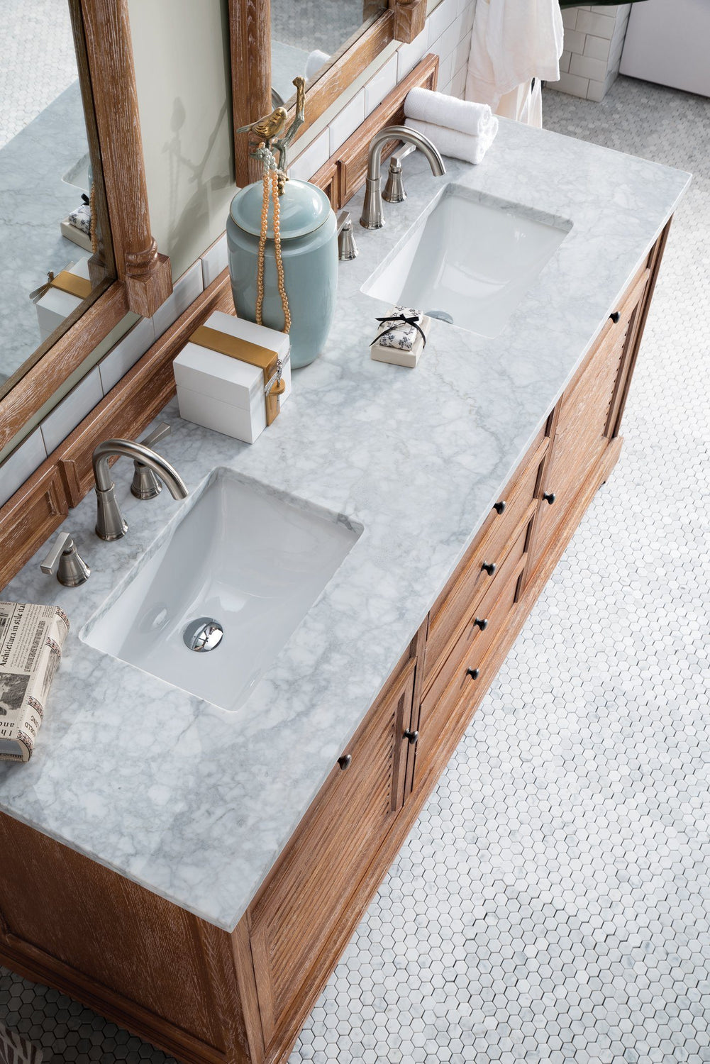 "72"" Savannah Driftwood Double Sink Bathroom Vanity"