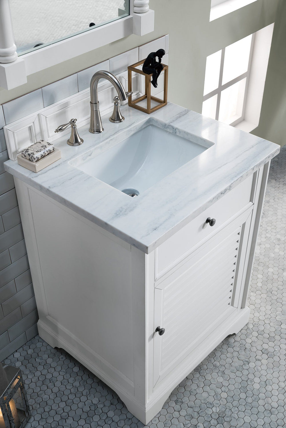 "26"" Savannah Cottage White Single Bathroom Vanity, James Martin Vanities - vanitiesdepot.com"