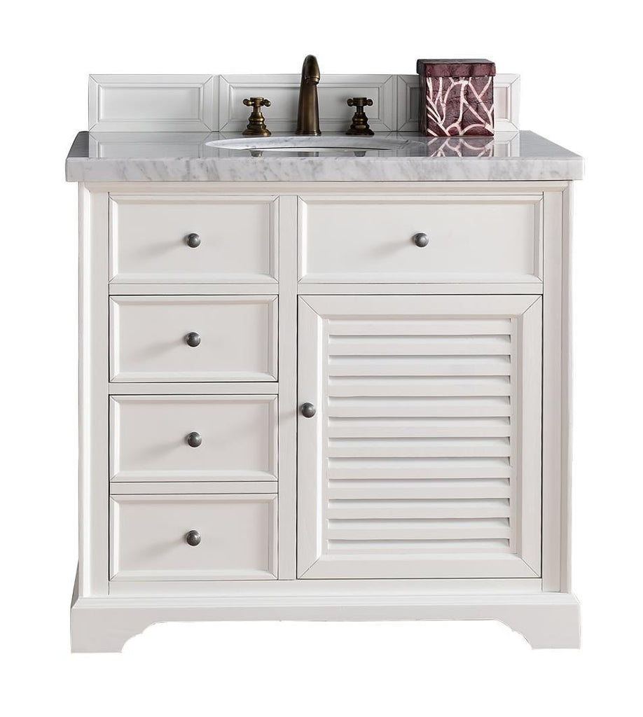 "36"" Savannah Cottage White Single Bathroom Vanity, James Martin Vanities - vanitiesdepot.com"
