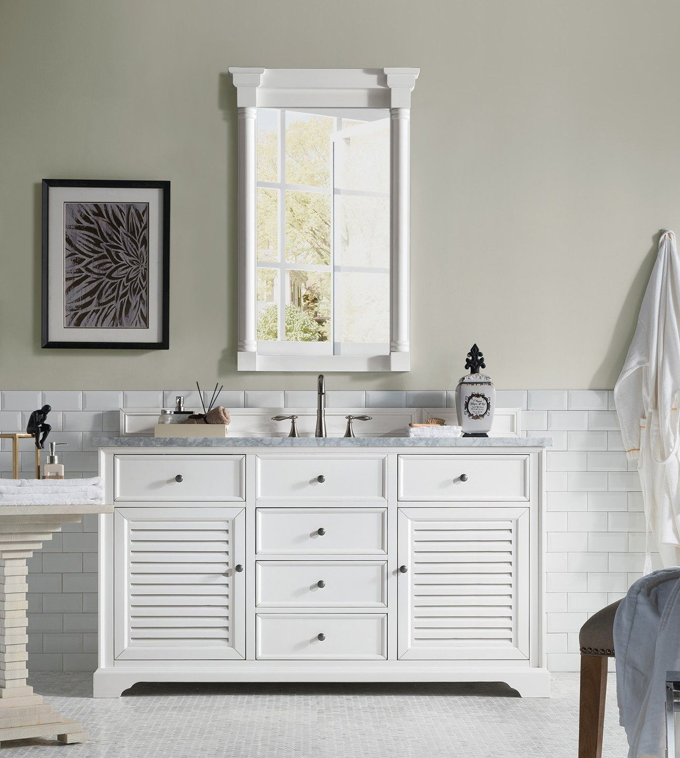 white single bathroom vanity. 60\ White Single Bathroom Vanity I
