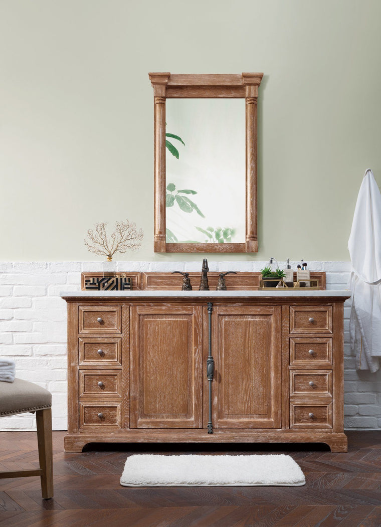"60"" Providence Driftwood Single Bathroom Vanity - vanitiesdepot.com"