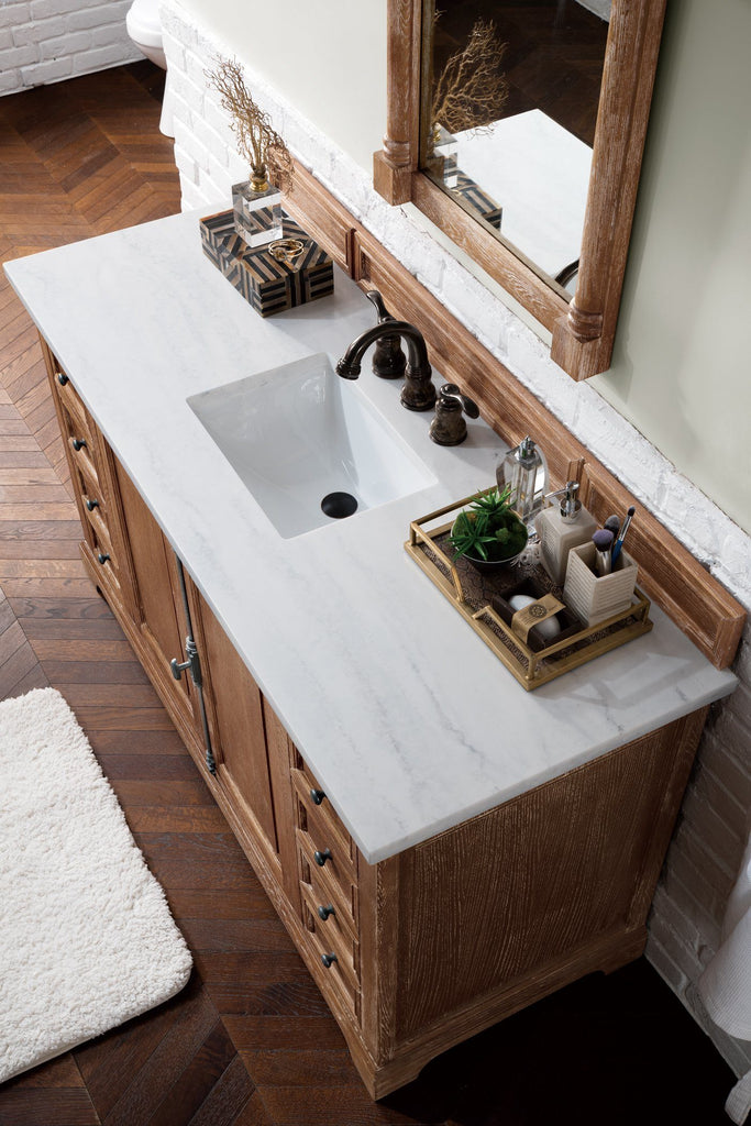 "60"" Providence Driftwood Single Bathroom Vanity, James Martin Vanities - vanitiesdepot.com"