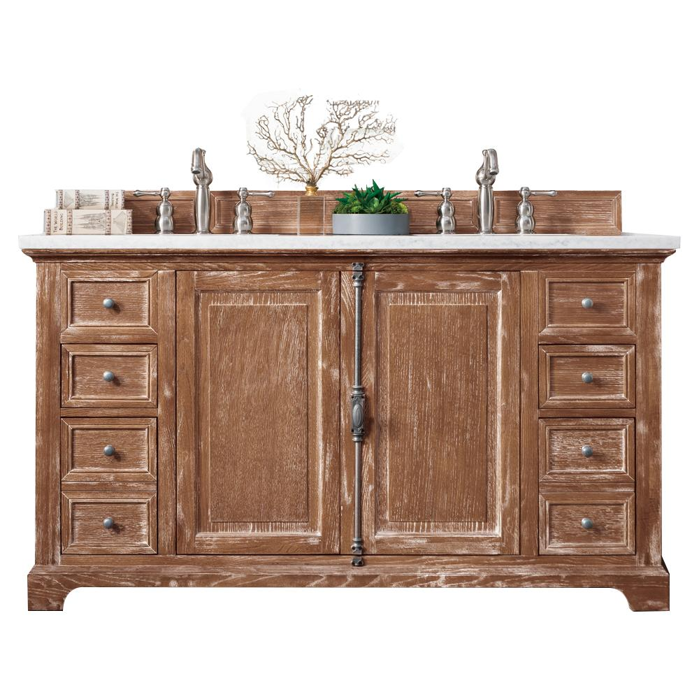 "60"" Providence Driftwood Double Sink Bathroom Vanity, James Martin Vanities - vanitiesdepot.com"