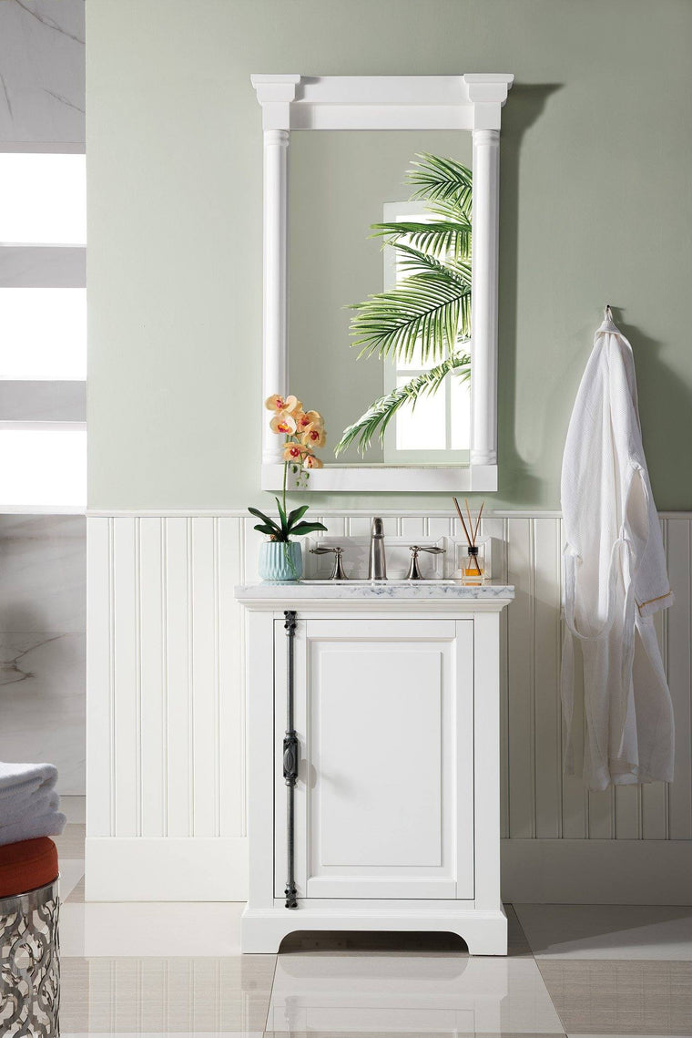 "26"" Providence Bright White Single Bathroom Vanity - vanitiesdepot.com"
