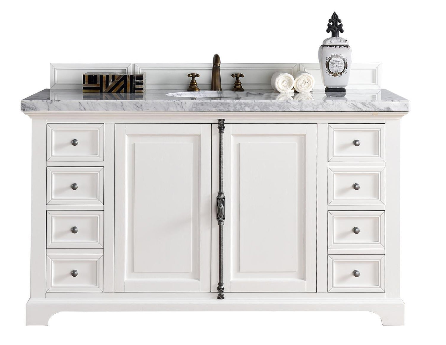 "60"" Providence Bright White Single Sink Bathroom Vanity"